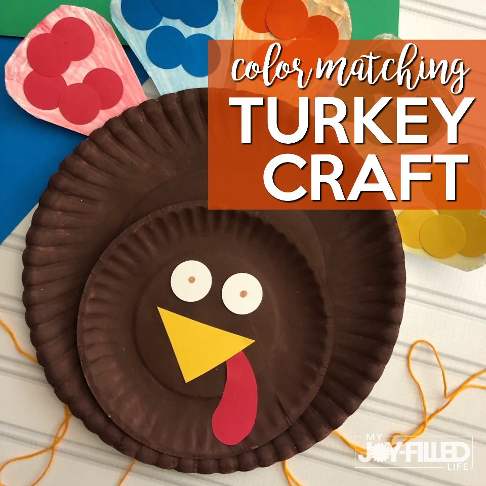 Color Matching Turkey Craft